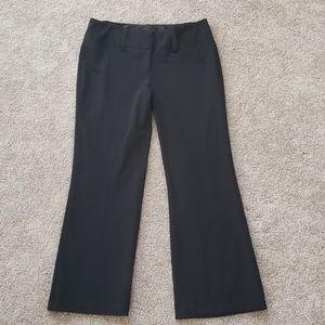 Maurices Black dress pants 7/8 Short